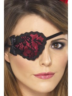 You can purchase a pirate eyepatch for your pirate costume in costume parties from the Halloween Spot. This red eyepatch is perfect for your pirate costume. Steam Punk, Pirate Costume Accessories, Pirate Fancy Dress, Pirate Eye Patches, Female Pirate Costume, Black Costume, Pirate Woman, Red Lace, Adulting