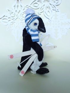 SALE 30 Collctible Teddy Toy Penguin Pin art toy by MySweetTeddy