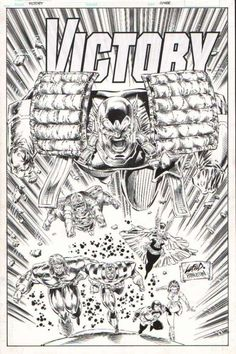 *SOLD* Victory cover by Rob Liefeld, in Danny Morales's zz-Sold Comic Art Gallery Room Comic Art, Comic Books, Rob Liefeld, Anatomy Drawing, Vit, Image Comics, Fantasy Artwork, Victorious, Tatoo
