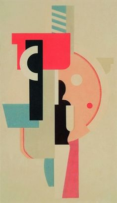Willi Baumeister, figure with segments of a circle