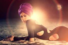 beyonce turban, cutout body suit