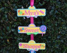 Shoppe dulce o signo de fiesta Candyland por YourPartyShoppe
