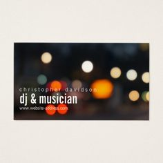 The 307 best dj business cards images on pinterest business card custom dj ambient lights business card colourmoves