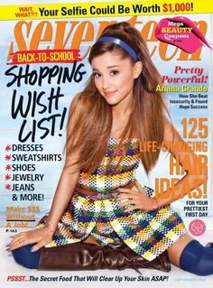 Ariana Grande covers the September issue of Seventeen magazine.