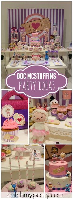 You have to see this Doc McStuffins girl birthday party! See more party ideas at a Catchmyparty.com!