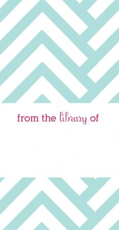 Free #Printable #Bookplates #fromthelibraryof