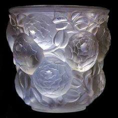 Rene Lalique Glass Vase