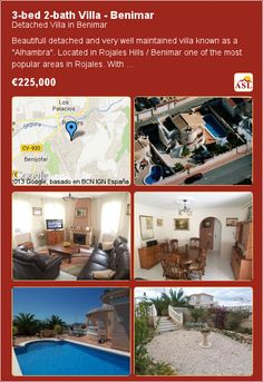 3-bed 2-bath Villa in Benimar ▶€225,000