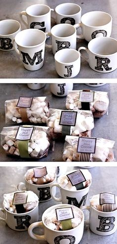 Adorable DIY hot cocoa kit! Permanent Marker the letters?