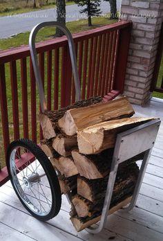 """Amish WoodChuck"" Wood Cart ~ All Aluminum Cart w/ Hard Rubber Wheels"
