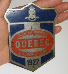 1927 CAA Automobile Club QUEBEC