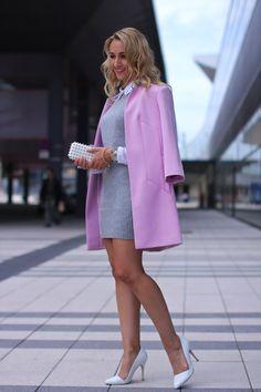 dress - Peek&Cloppenburg - blouse - H&M / coat - Primark / shoes - Buffalo / clutch - Forever21 / watch - no name / rings - Ti Sento / bracelets - Ti Sento, H&M