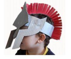 soldier helmet craft - Romans, Spartans, etc. Ancient Rome, Ancient Greece, Ancient History, Roman Soldier Helmet, Roman Helmet, Helmet Armor, Knights Helmet, Helmet Of Salvation, Gladiator Helmet