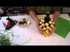 DIY Ferrero Rocher Strauß, ganz einfach und eindrucksvoll zum selber machen - YouTube