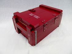 Diy Ammo Storage, Nerf Gun Storage, Storage Tubs, Storage Boxes, Fun Projects, Design Projects, Wood Projects, Wood Crates, Wooden Boxes