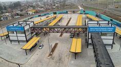 Así es el Centro de Trasbordo que suman al Metrobus La Matanza  Está en González Catán y sirve para combinar los colectivos con el tren Belgrano Sur y servicios de combis.   Más info: