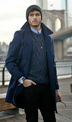 joli manteau homme zara de couleur bleu