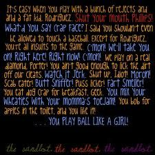 the sandlot  Best insults of all time (: