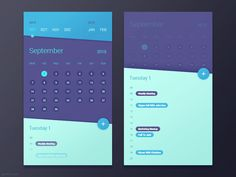 Fantastic UI Design by Gal Shir - Nothing like an awesome set of Interface Design to close the week. There are some very talented designers out there doing sweet interfaces. one of them is Tel Aviv based designer Gal Shir! App Ui Design, Mobile App Design, Web Design Trends, Mobile Ui, Gui Interface, User Interface Design, Calendar App, Calendar Design, Calendar Reminder