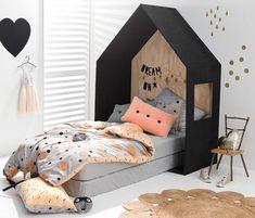 HOUSE BEDS - Mommo Design SO cute for little girls room/toddler! Baby Bedroom, Girls Bedroom, Peach Bedroom, Bedroom Ideas, Bedroom Decor, Bedroom Styles, Master Bedroom, Childrens Beds, House Beds