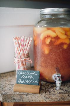 Peach Sangria: http://www.stylemepretty.com/living/2015/06/20/22-game-changing-sangria-recipes/