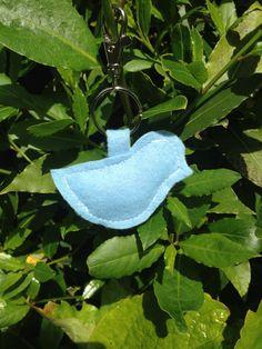 Handmade Blue Little Birdie Bag Charm by ROAMbyIsobelle on Etsy