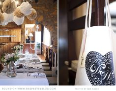 """A calming combination of white and earthy beige pom poms fit the understated rustic surroundings, but still say, """"Party!""""  Pom Poms Image: Sam Maber"""