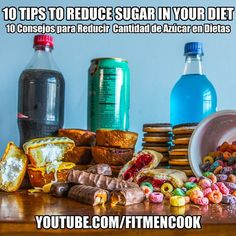 Just in time for summer (and before getting grub for #nbafinals). Here are 10 quick, practical tips to help you reduce the amount of sugar in your diet. I enjoyed making this follower-requested video and I really think you'll like it. Plus, there are GREAT ideas being shared in the comment section so go check it out! Click the link in my profile or go to YouTube.com/FitMenCook. Tag someone who needs to eat less sugar AND name one sugary food you need to eat less of. Boom! (traducción abajo)…