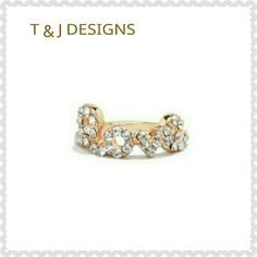 T & J DESIGNS PAVE LOVE RING NWT T & J DESIGNS PAVE LOVE RING (HEART RING NOT INCLUDED). LEAD AND NICKEL FREE.   SIZE 4 - 1 AVAILABLE  SIZE 5 - 2 AVAILABLE  SIZE 6 - 1 AVAILABLE  SIZE 7 - 1 AVAILABLE   SAME OR NEXT DAY SHIPPING! T&J Designs Jewelry Rings