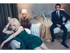 {Clive Owen, Nicole Kidman} as Hemingway and Gellhorn, from W Magazine. Love himmmmmm!