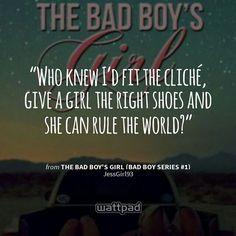 "I'm reading ""The Bad Boy's Girl (Bad Boy Series on Wattpad Quotes, Wattpad Books, Wattpad Stories, Bad Boy Quotes, She Quotes, Book Quotes, Boys Who, Bad Boys, Sharing Quotes"