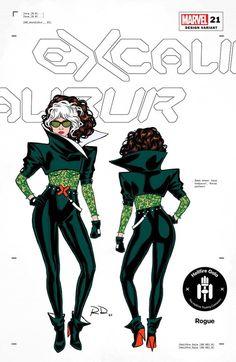X-Men Hellfire Gala Fashion - Marvel Comics Covers - Media Chomp Marvel Comics, Rogue Comics, Marvel Dc, Emma Frost, Jim Lee, Jean Grey, Super Hero Costumes, Cool Costumes, Costume Ideas