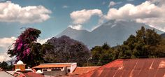 Our Stunning view of terrace Stunning View, Central Park, Volcano, Terrace, Mountains, City, Building, Travel, Saints