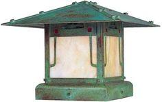 Arroyo Craftsman PDC Pagoda Column Post Pier Mount Light