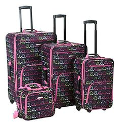 Luggage Sets Collections | The Set of Classic Heart Rockland 4 Piece Luggage * Learn more by visiting the image link. Note:It is Affiliate Link to Amazon.