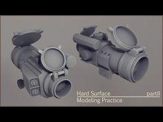 hard surface modeling practice part 2 - YouTube