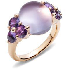 Pomellato Ring Luna ($4,560) ❤ liked on Polyvore featuring jewelry, rings, purple, pomellato, purple jewelry, pomellato jewelry, pomellato rings and cabochon jewelry
