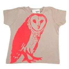 Neon barn owl tee