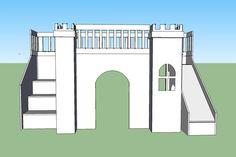 mdf kids castle beds - Google Search