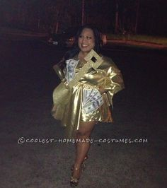 Homemade Costume for Women: Cool and Shiny Gold Digger... Coolest Halloween Costume Contest