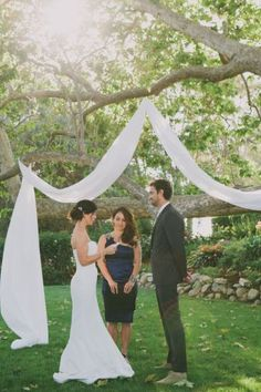 Wedding Alter with Drapes – shared by Wedding Chicks