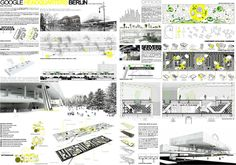 AWR - Architecture Workshop in Rome: FIRST PRIZE ADA 2011 - Architecture Dissertation Award // GOOGLE HEADQUARTERS BERLIN - Paloma Hendel, Spain