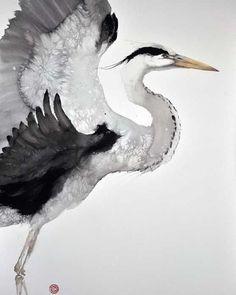 Watercolor by Karl Martens. #watercolor #watercolour #art #painting #bird #animalistic #акварель #живопись #анималистика #искусство