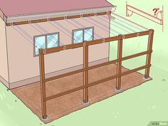How to Add a Lean To Onto a Shed. When your shed or other storage building no longer provides enough room, you can add additional storage if you add a lean-to onto a shed. If the existing shed is structurally sound and has an exterior wall. Lean To Shed Plans, Diy Shed Plans, Storage Shed Plans, Built In Storage, Small Storage, Roof Storage, Lean To Carport, Lean To Roof, Garage Shed