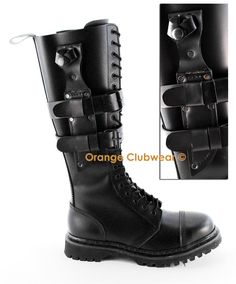DEMONIA PREDATOR-I Men's Combat Knife Holder Knee Boots Wonder if these come in women sizes? WANT IT!!