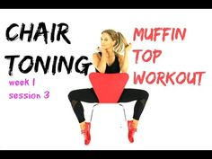 MUFFIN TOP  WORKOUT - CHAIR TONING -  melt off that muffin and sculpt around your middle. - YouTube