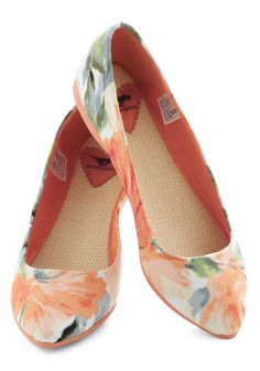 Pointing the Way Flats in Floral. RocketDog via Modcloth.