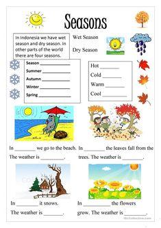 Season worksheet - Free ESL printable worksheets made by teachers