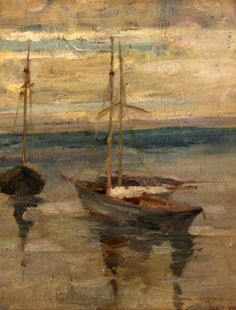 Boats at rest, Dudley Hardy. English (1866 - 1922)