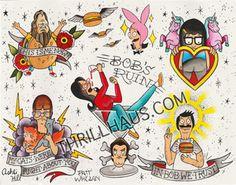 Bob's Burgers Tattoo Flash